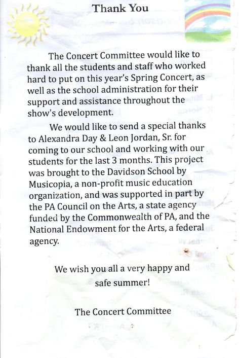 Thanks Davidson School At Elwyn For The Lovely ShoutOut In Your