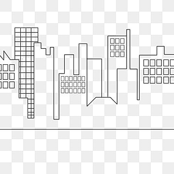 Line Drawing City Buildings Clipart Black And White City Building Png Transparent Clipart Image And Psd File For Free Download Line Drawing City Buildings City Sketch