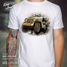 Kaos Willys Jeep 06 Kaos Mobil Jeep