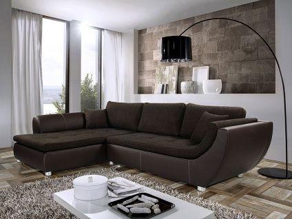 P 526d3095d6fd1 4d2c4d6ac 6 Wohnlandschaft Avery 287x196cm Webstoff Braun Kunstleder Braun Sofa In 2020 Sofa Modern Couch Couch