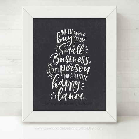 Chalkboard Small Business Art in 2 Styles by LemonadeDesignStudio