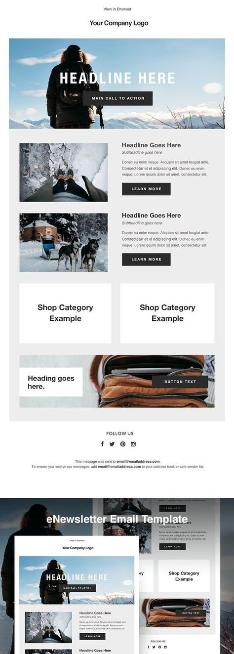 MailChimp HTML Email Template