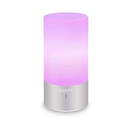 Lunsy Bedside Touch Lamp Dimmable Warm White Light And Color Changing Rgb Table Lamps For Living Room Bedroom Revie Lamps Living Room Touch Lamp White Light