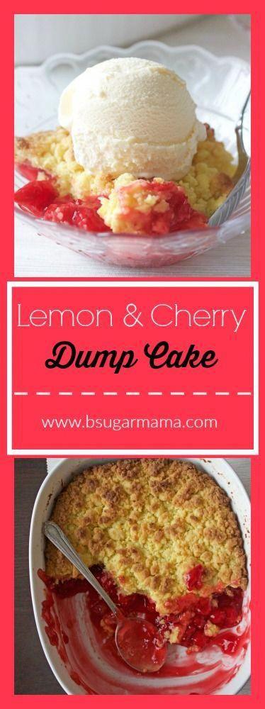 Lemon and Cherry Dump Cake: This cake cost less than $5 to make! #cherrycake