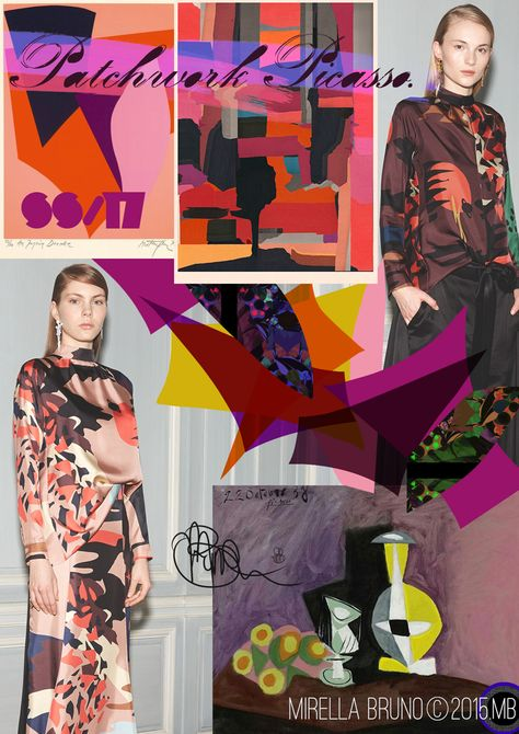 © Mirella Bruno Print Designs SS/17.  Print/Colour and Direction inspirations/ predictions for personal upcoming projects.