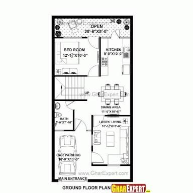 Image Result For 20 40 House Plan 3d House Map Luxury House Plans 20x40 House Plans