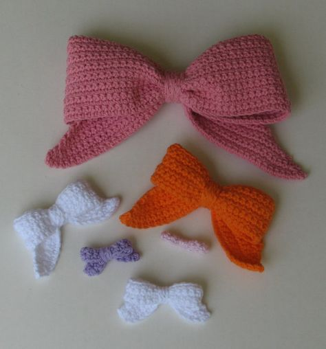 Crocheted Bows  sizes including 'The Royal by ambassadorcrochet, $3.99
