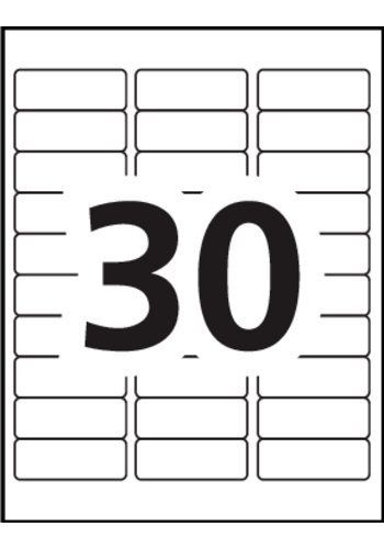 Avery 8593 Label Template Avery Address Labels 5160 Blank 30 Labels Per Sheet Address Label Template Avery Address Labels Return Address Labels Free