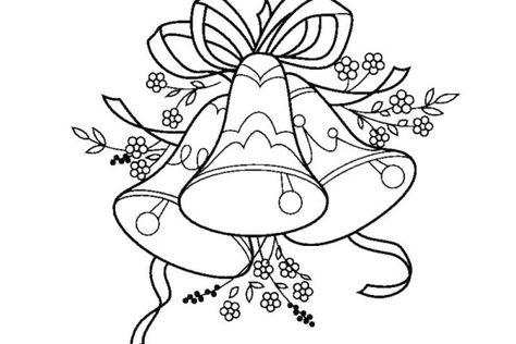 Como Pintar Arboles Con Acuarela Campanas De Navidad Dibujos Faciles Para Ninos Dibujos De Navidad Para Imprimir