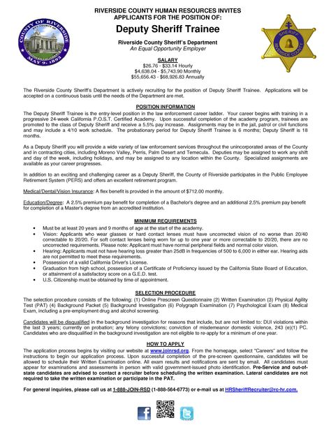 19 best Job Openings - Riverside County, California images on - lateral police officer sample resume