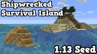 Minecraft 1 13 Seed - Survival Island SHIPWRECK SEED