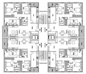 Piante Da Appartamento Dwg.Tipologie A Torre Dwg Torri Dwg Edificio Multifamiliar Plano