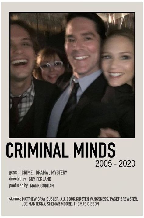 minimalist movie posters criminal minds
