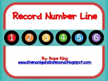 Here's a record (remember these?) number line from 1-100.