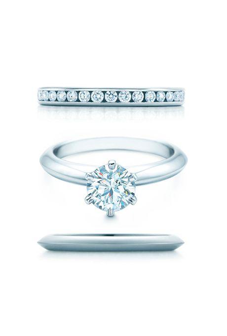 72ba0d455b1 Tiffany Engagement Rings and Wedding Band Pairings