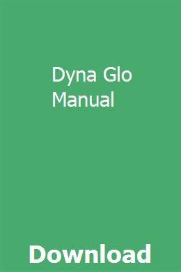 Dyna Glo Manual Picanto Manual Marketing Method