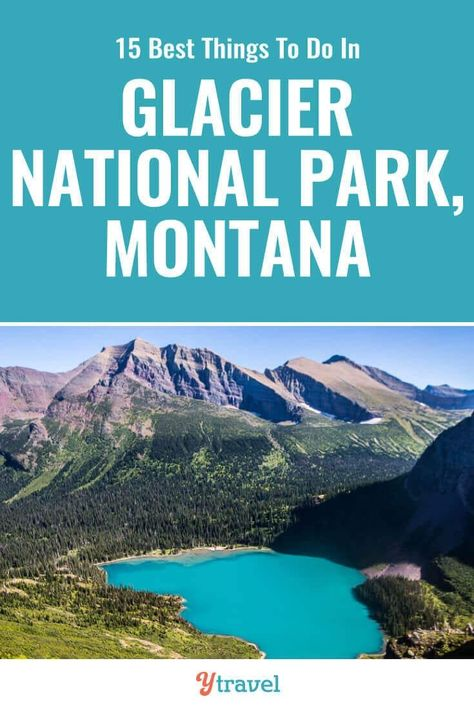 Glacier National Park is incredible. Check out this list of 15 best things to do in Glacier National Park Montana including tips on how to get there, best hikes, best scenic drive, wildlife spotting, and where to stay. Glacier National Park Montana, Yosemite National Park, West Glacier Montana, Badlands National Park, Many Glacier, Glacier Np, Nationalparks Usa, Places To Travel, Places To Visit