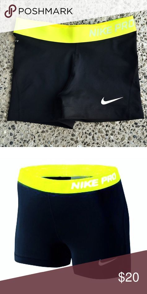 "Nike Pro 3"" compression Shorts 3"" Compression  Shorts: Thus fitted, stretch short can be worn alone or as a layer.Move with ease and stay dry with lightweight fabric featuring Moisture Transport System and anti-odor technology.Elastic waiatband. Polyester/elastane. Nike Shorts"