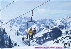 1970s Aspen Highlands Maroon Bells Original Ski Poster 21 X