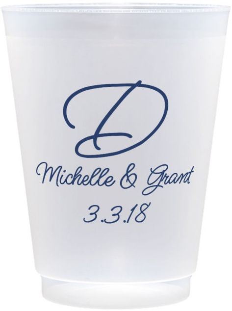 16 Oz. Reusable Custom Printed Frosted Plastic Cups (Set of