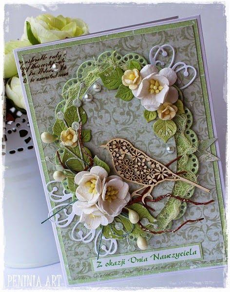 Peninia Art Na Dzien Nauczyciela Floral Cards Flower Cards Cards Handmade