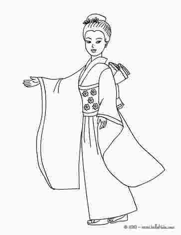 Japanese Princess Coloring Pages Princess Coloring Pages