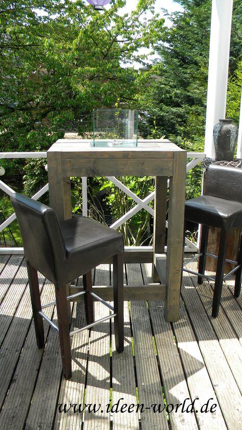 Holz Möbel Gartentischstehtisch Mit Feuerstelle Nach Ihren