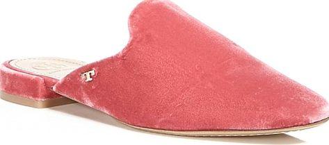 435f24c6201c Tory Burch Carlotta Velvet Mules - FLATS - Tory Burch - Jaipur Pink. Tory  Burch Carlotta Velvet Mules  footwear  ToryBurch  shoes  mules