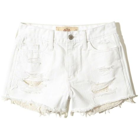 93d1066a04f Hollister High-Rise Denim Short-Shorts ( 50) ❤ liked on Polyvore featuring  shorts