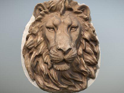 Lion Head Wall Sculpture Free 3d Model Lion Head Wall Sculptures 3d Model