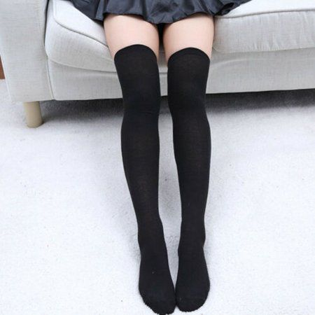 Knee High Stockings, Sexy Stockings, Striped Stockings, Black Thigh High Socks, Long Black Socks, Thigh Socks, Over Knee Socks, Fashion Socks, Cotton Socks