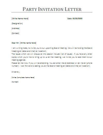 Party Invitation Letter Invitation Sample Pinterest Party - birthday invitation letter sample