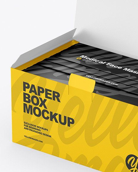 Download Surgical Mask Box Mockup Psd Clothing Mockup Design Mockup Free Box Mockup