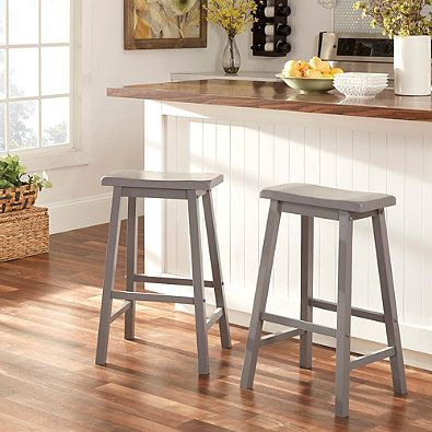 Verona Home Calera Saddle Counter Stools In Grey Set Of 2 Bed Bath Beyond 113 29 Bar Stools Saddle Bar Stools Saddle Stools