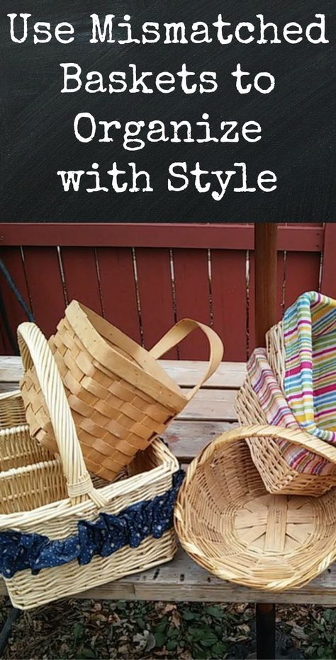 Use mismatched baskets to organize your pantry in style