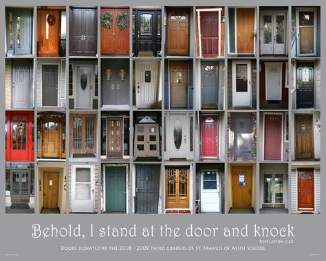 doors Could be really cool.  Each family photographs their front door.