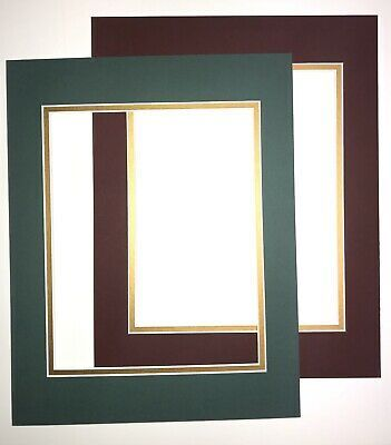 10 Pack Picture Framing Double Mats 11x14 For 8x10 Photo Green Gold Red Gold Ebay Photo Art Frame Picture Frame Mat Frame