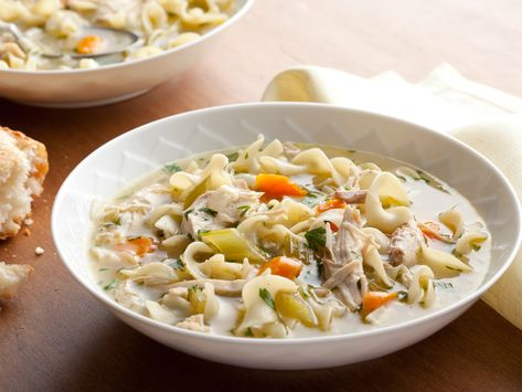 Recipe of the Day: Tyler's Chicken Noodle Soup | Warm chicken noodle soup is as satisfying for lunch as it is for dinner. Fill an insulated container with the good, old-fashioned favorite or sit down to a big bowl at the dinner table — you can't go wrong!