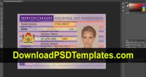 Netherlands Id Card Template Psd Editable Fake Download Within Social Security Card Template Photoshop Id Card Template Card Templates Free Card Template