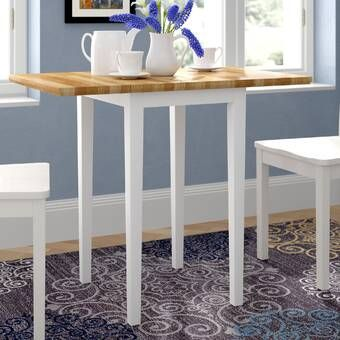 Lynn Extendable Drop Leaf Rubberwood Solid Wood Dining Table In