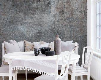 Wallpaperpeel Stickbetonadhesive Vinylloft Wall Design Etsy White Decor Black And White Decor Cement Walls