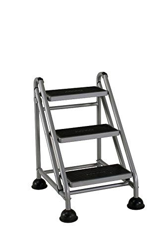 Cosco 3 Step Rolling Step Ladder Grey Cosco Step Stool Step Ladders
