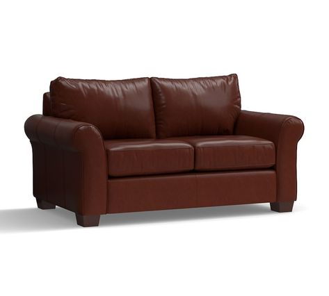 Miraculous Pb Comfort Roll Arm Leather Sofa In 2019 Products Onthecornerstone Fun Painted Chair Ideas Images Onthecornerstoneorg
