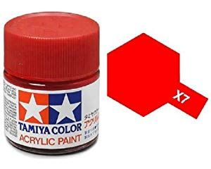 Tamiya Models X 7 Mini Acrylic Paint Red