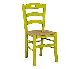 Sedie Da Cucina Impagliate.Sedia In Faggio Massiccio Con Seduta Impagliata Elvira Lime