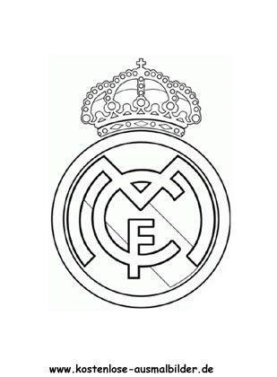 Fussballverein Real Madrid Ausmalen Ausmalbilder Fussball Malvorlagen Fur Madchen