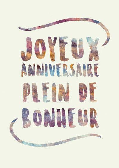 Joyeux Anniversaire Que Du Bonheur Best Of Carte Anniversaire