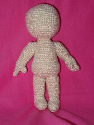 Basic doll body crochet - YouTube   400x300