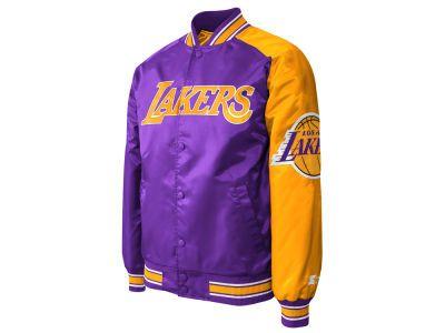 Los Angeles Lakers Nba Men S Starter Dugout Playoffs Satin Jacket Satin Jackets Jackets Los Angeles Lakers