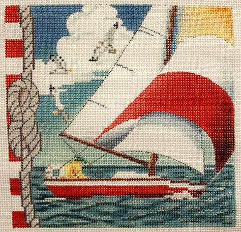 "Sailing Yacht Complete Counted Cross Stitch Kit 8/""x 13/"""